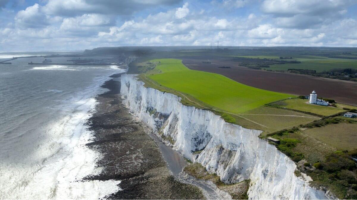 Štúdium v Anglicku, White Cliffs v Doveri