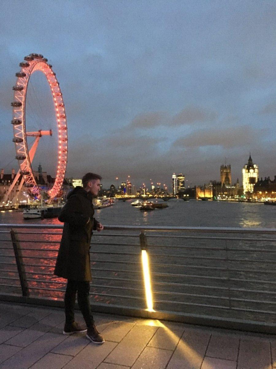 Tomáš, London Eye, štúdium v Anglicku
