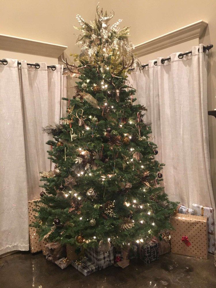 Vianočný stromček študentky na strednej škole v USA