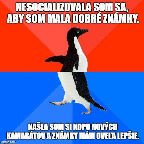 socializácia vs štúdium v zahraničí meme
