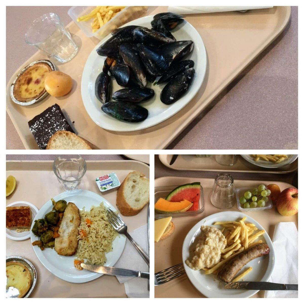 Obedy na strednej skole vo Francuzsku
