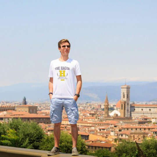 Cestovanie popri štúdiu, Piazzale Michelangelo, Florencia