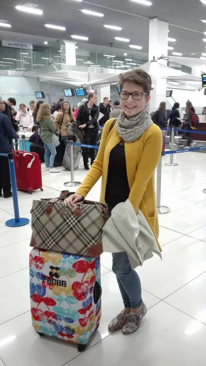 Katka pred odchodom do Anglicka