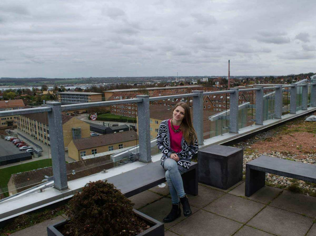 Štúdium v Dánsku, na streche VIA University