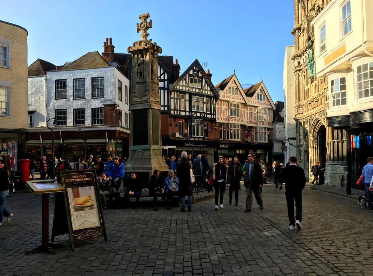 Štúdium v Anglicku - Uličky v Canterbury