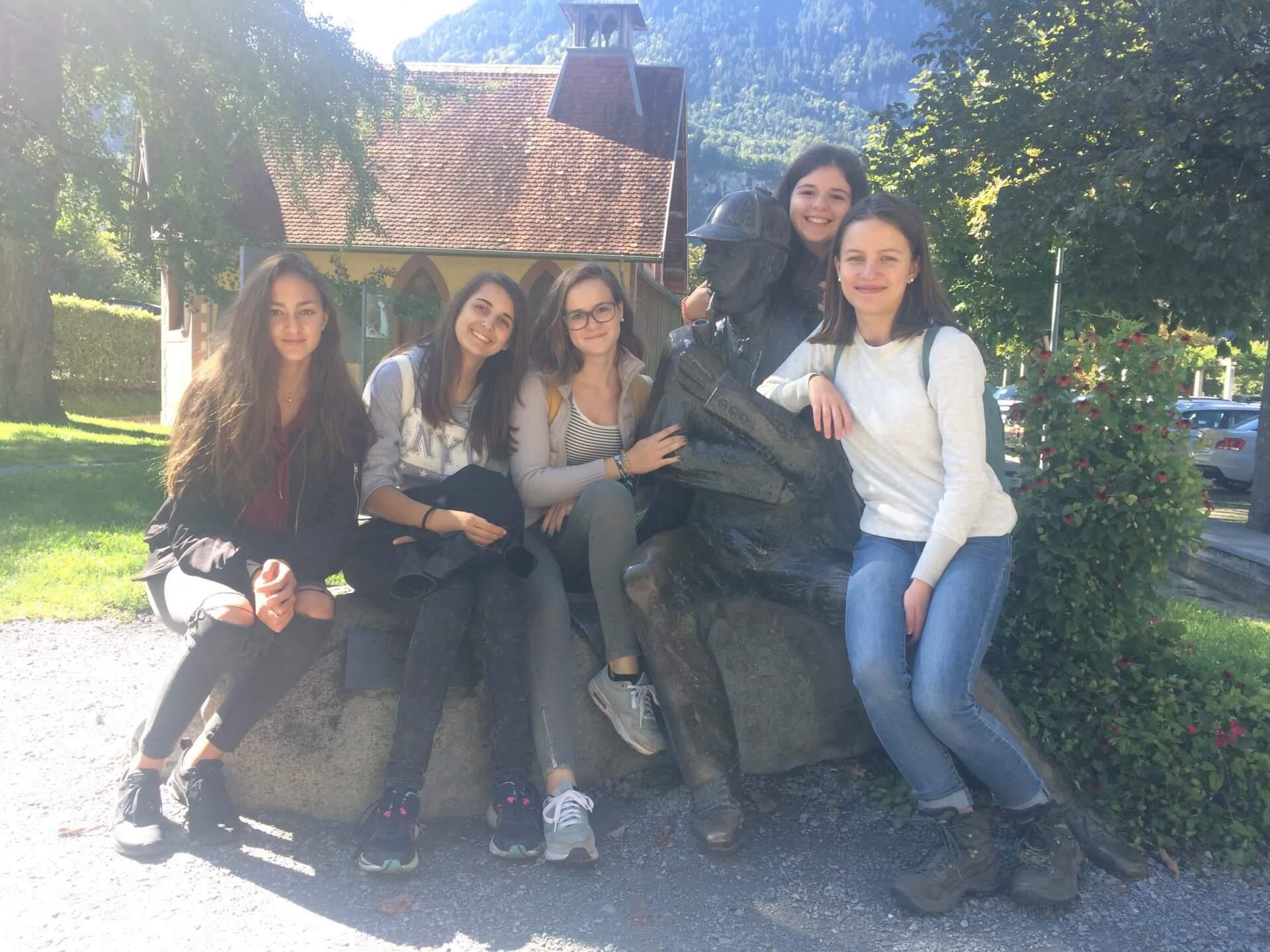 Školská trieda, výmenný pobyt: Švajčiarsko